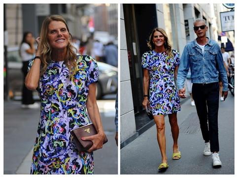 Anna Dello Russo con... Gioia, eccola a Milano con Angelo