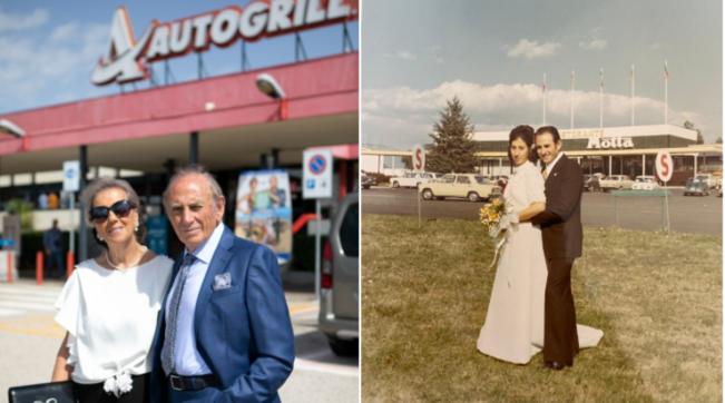 Coniugi festeggiano le nozze d'oro in Autogrill: lo stesso dove si sono sposati