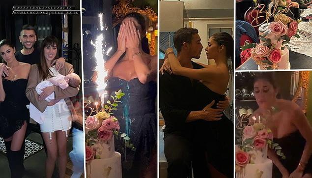 Belen ha spento 37 candeline, guarda tutte le foto della festa