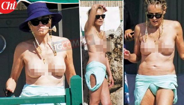 Sharon Stone a 63 anni un topless da effetto wow!