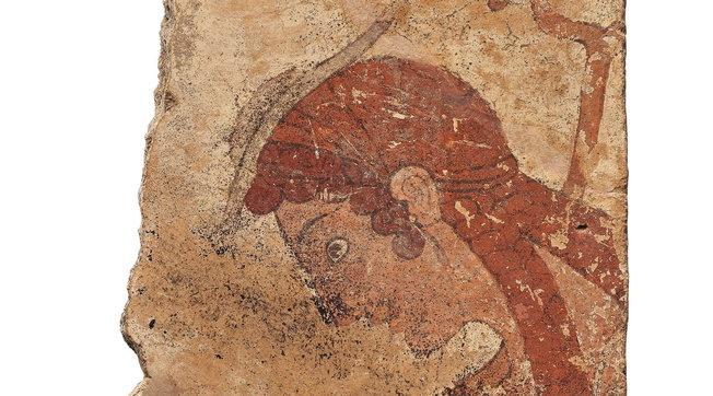 """Ritorna in Italia il """"Viaggiatore etrusco"""",preziosa lastra in terracotta dipinta"""
