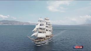 La Vespucci torna nel cantiere dove è stata costruita