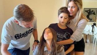 Max Biaggi ed Eleonora Pedroninsieme… per la festa di Ines