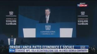 Breaking News delle 14.00 | Draghi lancia patto economico e sociale