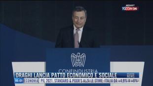 Breaking News delle 16.00 | Draghi lancia patto economico e sociale