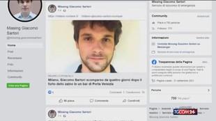 Giacomo Sartori, scomparso a Milano: ore decisive per le ricerche