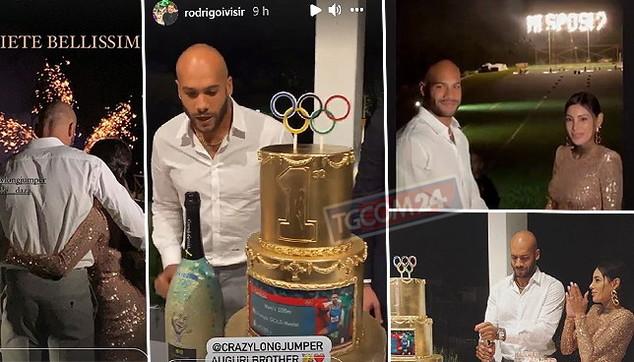 Marcell Jacobs sorprende tutti: alla sua festa di compleanno fa la proposta a Nicole Daza