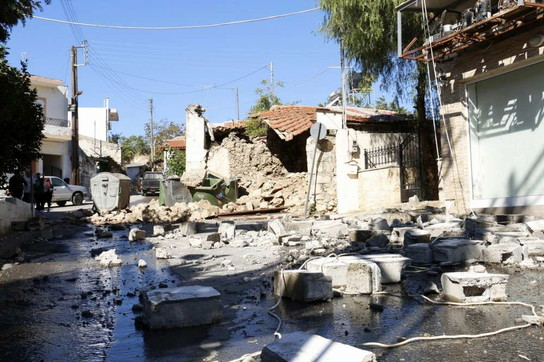 Grecia, terremoto di magnitudo 6.1 a Creta: edifici crollati