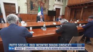 Breaking News delle 16.00 |Patto sociale, oggi incontro Draghi-Sindacati