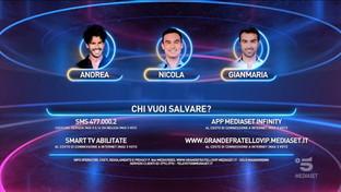 """""""GF Vip"""", i nominati della quinta puntata: Andrea Casalino, Nicola Pisu e Gianmaria Antinolfi"""