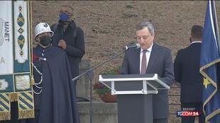 """Draghi: """"Accelerare sulla ricostruzione a L'Aquila, è un obbligo"""