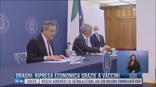 Breaking News delle 18.00 | Draghi: Ripresa economica grazie a vaccini