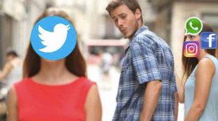 Facebook, Whatsapp e Instagramdown: Twitter gode e sorride con i meme