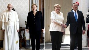 Ultimo viaggio a Roma da Cancelliere per Angela Merkel: prima incontra il Papa, poi va dal premier Draghi