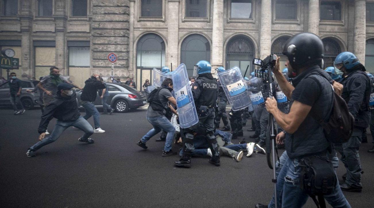 Scontri a Roma, sequestrato il sito web di Forza Nuova