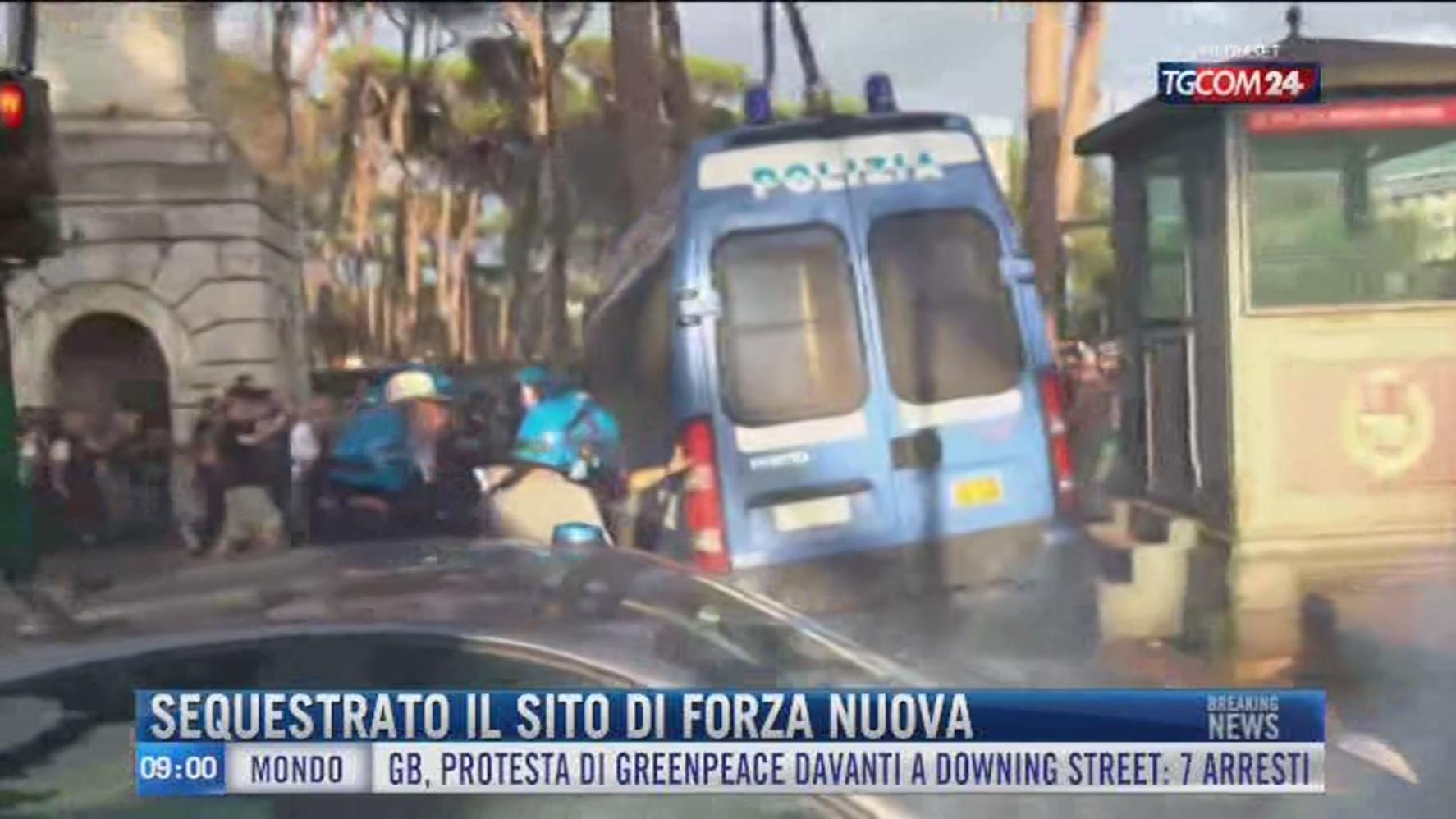Breaking News delle 09.00   Sequestrato il sito di Forza Nuova - Video  Tgcom24