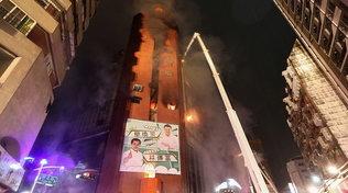 Taiwan, in fiamme edificio di 13 piani: morti e feriti