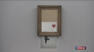 """Venduto il Banksy """"semidistrutto"""""""