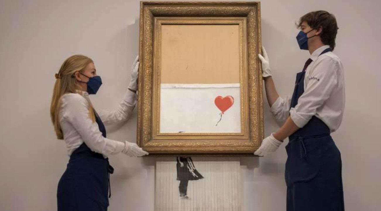 """Banksy """"semidistrutto"""", l'opera venduta per 22 milioni di euro"""