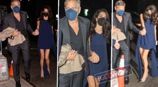 Amal e Clooney vanno a cena fuori, eccoli mano nella mano