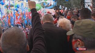 Cgil, oltre centomila in piazza a Roma con i sindacati