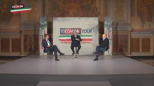 """""""Tgcom24Tour"""" a Bologna, Paolo Liguori intervista Stefano Bonaccini e Francesco Ubertini"""