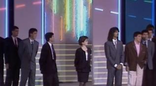 """Ruud Gullit, Franco Baresi e altri sportivi cantano """"No more"""" ai Telegatti 1988"""