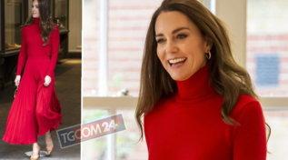 Kate Middleton dama in rosso aderente e sexy