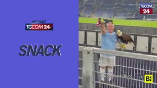 Lazio, il falconiere allo stadio inneggia al Duce con i tifosi