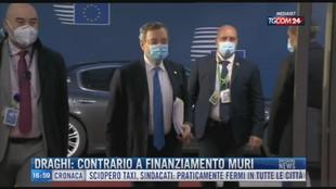 Breaking News delle 17.00   Draghi: contrario a finanziamento muri
