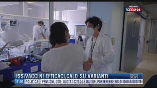 Breaking News delle 16.00 | ISS: vaccini efficaci, calo su varianti