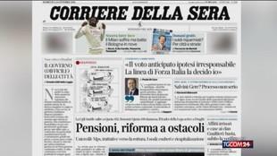 """Berlusconi: """"Voto anticipato? Sarebbe da irresponsabili"""""""