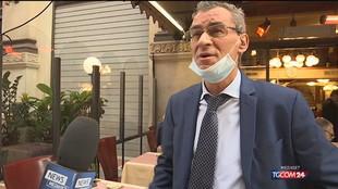 """Milano, l'ira dei commercianti contro i """"No Green pass"""""""