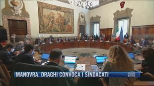 Breaking News delle 12.00 | Manovra, Draghi convoca i sindacati