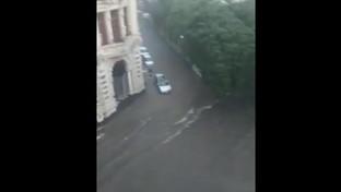 Catania, alluvione sulla città: le strade diventano fiumi