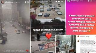 Alluvione a Catania, la solidarietà dei vip