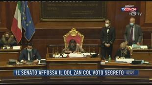 Breaking News delle 21.30   Il Senato affossa il ddl Zan col voto segreto
