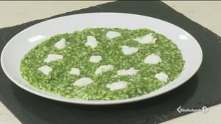Risotto agli spinaci con mozzarella di bufala campana