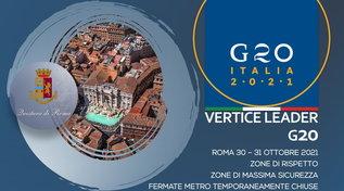 G20 di Roma, ecco il piano di sicurezza messo a punto dalla polizia