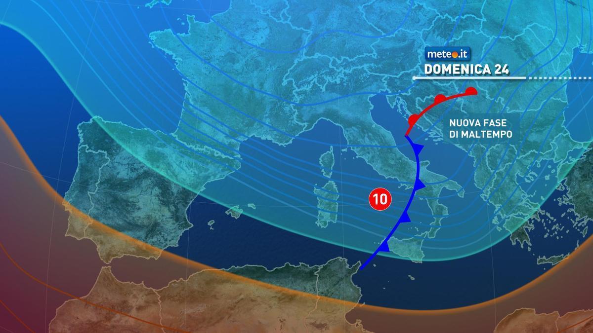 Meteo: allerta rossa in Emila, arancione in Toscana e Liguria | Domenica con pioggia, neve e venti forti
