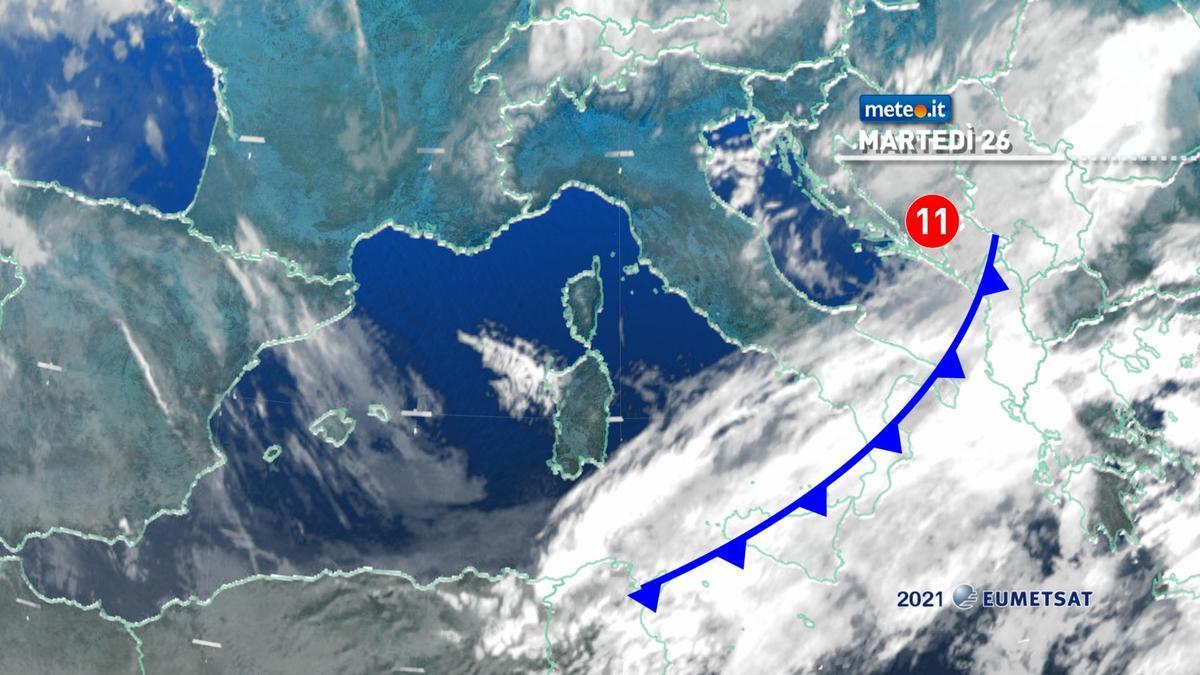 Meteo, venti freddi e calo termico: piogge residue al Sud